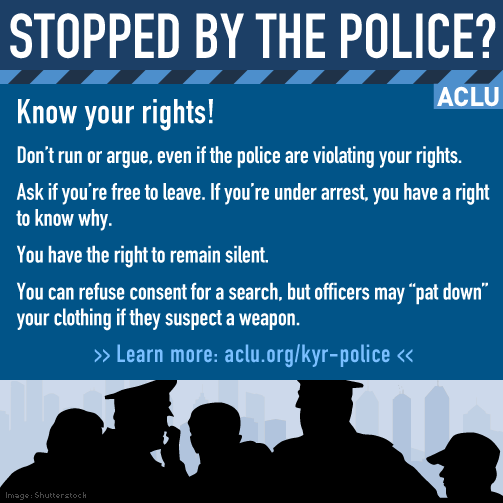 ACLU Know Your Rights Flyer